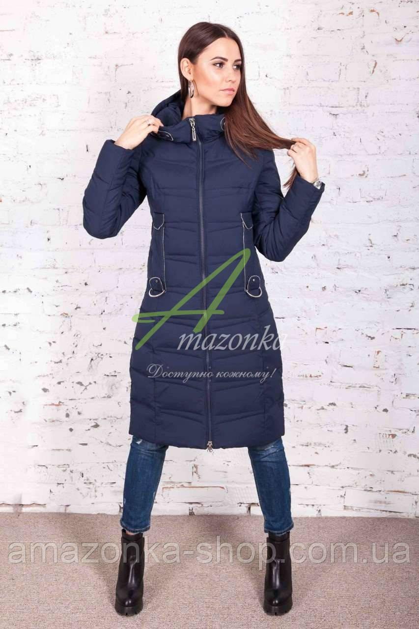 Удлиненное зимнее пальто для женщин - (модель кт-184)