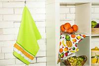 """Набор вафельных полотенец """"с рюшей фрукты""""  IDEIA"""