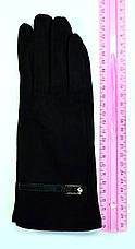 Женские замшевые перчатки без подкладки , фото 3