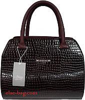 Женская сумка полукруглой формы темно бордовая, фото 1