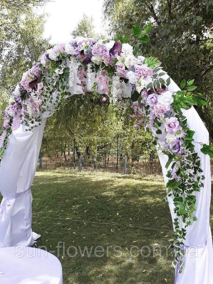 Гирлянда на свадебную арку(лилово-сиреневая)