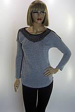 Сіра жіноча кофта з перлинками Estasi, фото 3