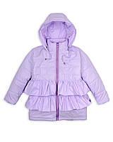 Детская куртка на девочку весна - осень«Рюша», 1 - 5 лет,лиловая
