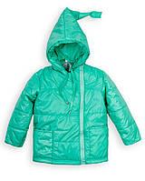 Детская куртка на девочку весна - осень«Гномик», 1 - 5 лет,мята