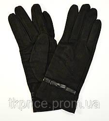 Женские замшевые перчатки без подкладки