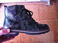 Ботинки женские милитари натуральная кожа код 332