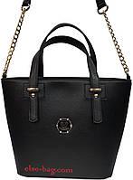 Черная женская сумка с цепочкой