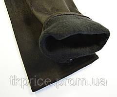Длинные женские перчатки на флисовой подкладке из эко замша,длина перчаток около 47 см, фото 2