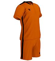 Комплект детской футбольной формы SWIFT PRIORITET Неоново-Оранжево-черная (XS/158 см)