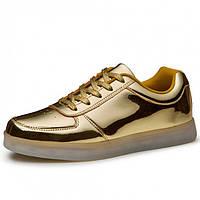LED кроссовки Золото, 11 режимов подсветки, шнурок, размер 37-40
