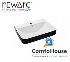 Умывальник NEWARC Countertop 60 (5014BW) белый/черный