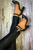 Mante! Красивые женские босоножки в черной коже туфли каблук 10 см весна лето осень классика, фото 1