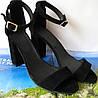 Viva лето! женские стильные босоножки каблук 10 см кожа черные замшевые туфли Viva стиль!