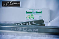 Накладки на пороги volkswagen tiguan (2007+), фото 1