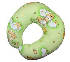 Подушка для кормления малышей Мишки на лесинке зеленый