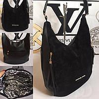 Модная сумка мешок на плечо с кисточкой Майкл Корс