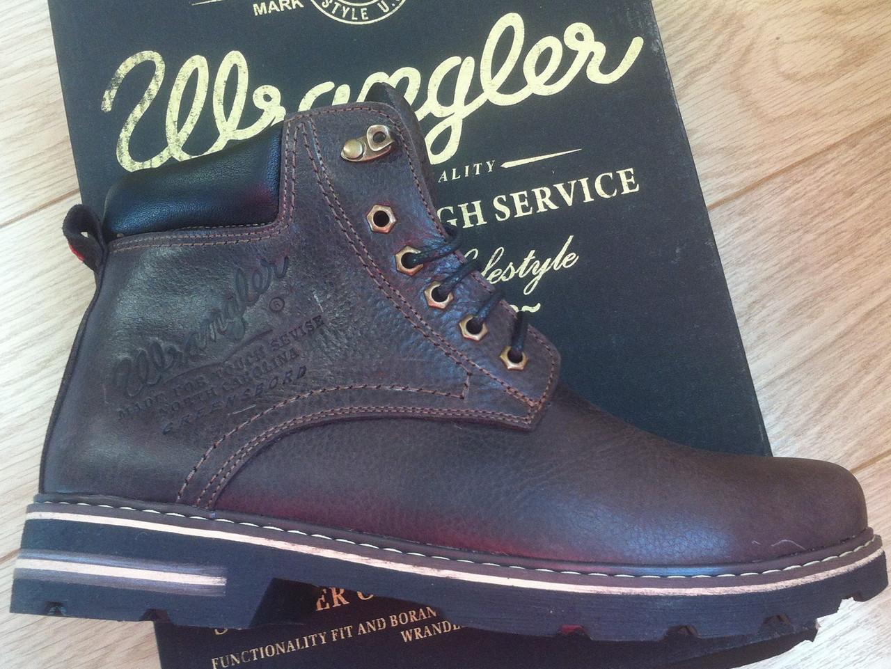 808e90639 Супер Wrangler! Мужские зимние ботинки натуральная кожа обувь сапоги в  стиле Вранглер