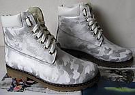 Зимние кожаные сапоги Тимберланд
