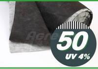 Агроволокно - Спанбонд Чёрно-белый  50гр/м 1,6 ширина 100м