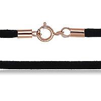 """Чёрный бархатный шнурок на шею """"897-2"""""""