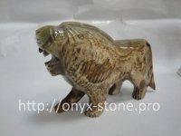 Лев из камня оникс, фото 1