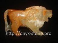 Лев из натуральные камень оникса