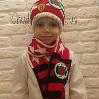 Шапка детская зимняя с шарфом 2-4  года мягкая тёплая