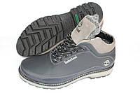 Ботинки зимние кожаные, цвет черно-серый, Б20