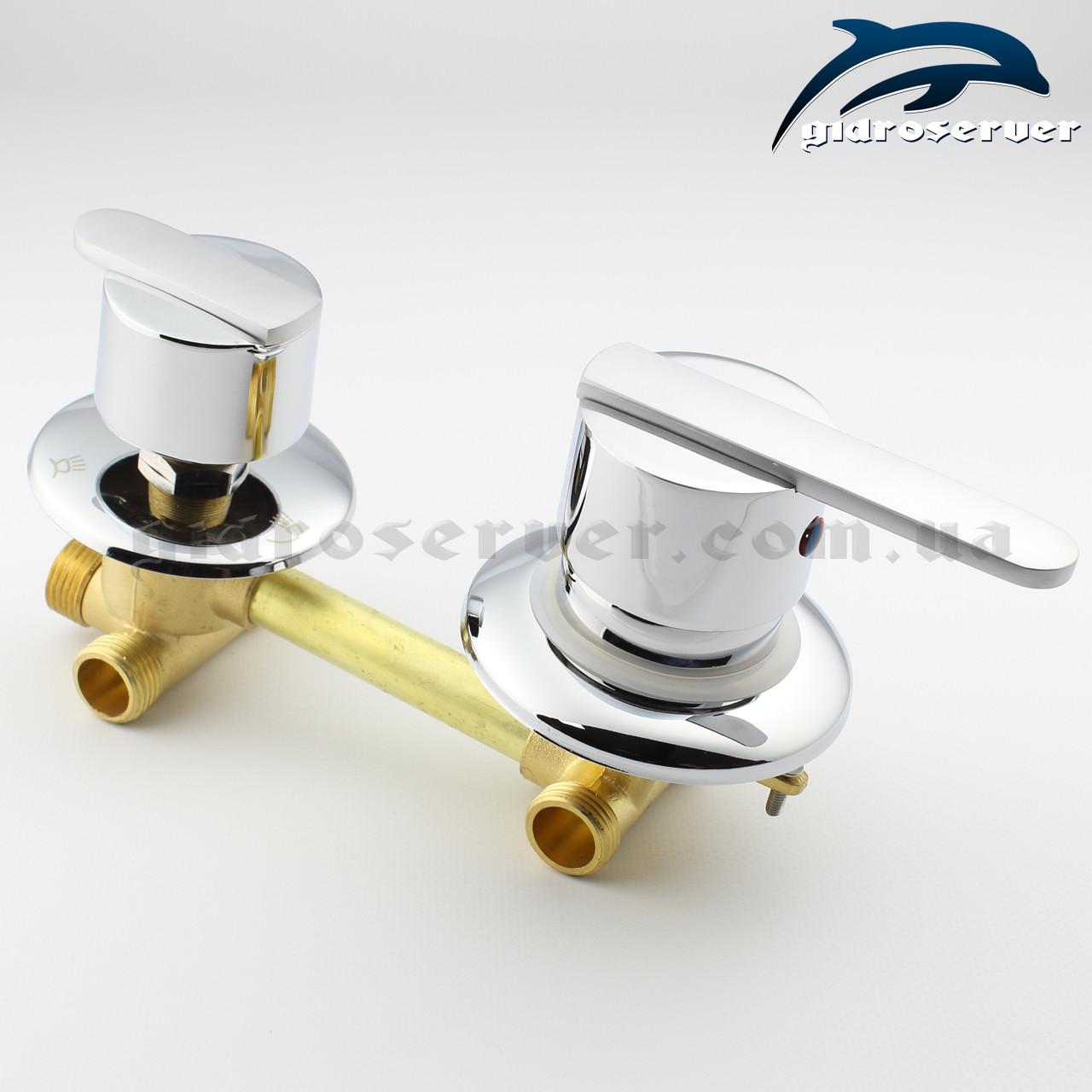 Смеситель для душевой кабины, гидромассажного бокса  G 3 - 120 мм.