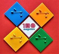 Заготовки для цветных значков. Набор крадратных акриловых значков