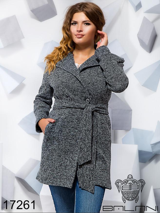 b2f1ed43930 Пальто демисезонное женское букле большого размера недорого в интернет- магазине Украина Россия р. 48