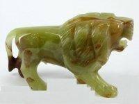 Лев из натуральные камень оникс