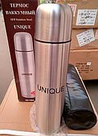 Термос металлический UNIQUE UN-1004, 1 л + чехол
