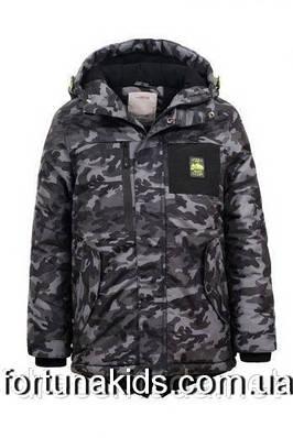 Куртка зимняя на искусственной овчине для мальчиков GLO-STORY 134/140-170 р.р
