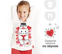 """Пижама детская с мурчащим котиком """"Cat & heart"""""""