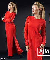 Красное платье в пол - 17029