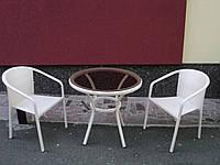 Комплект 2 кресла+ стол из искусственного ротанга  №4