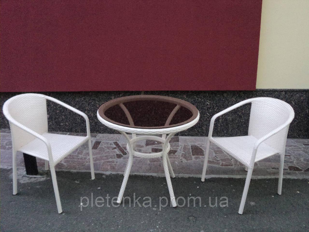 """Комплект 2 кресла+ стол из искусственного ротанга  №4 - """"Плетенка"""" в Полтавской области"""