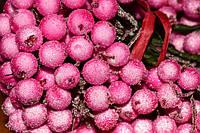 Калина сахарная декоративная 12мм - цвет розовый