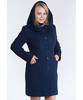 Пальто зимнее с капюшоном №17 синий р. 42;46;48