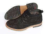 Замшевые ботинки зимние , черные, Б33