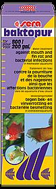 Sera baktopur - кондиционердля аквариумной воды против нагноений плавников и ротовой полости рыб на 2000 л, 100мл