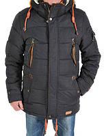 Удлиненная зимняя куртка пошита с качественной плащевки под парку 46-54