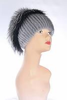 Шапка женская капля, норка и чернобурка, фото 1