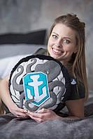 Декоративна подушка, лого гри«World of Warships», кругла., фото 1