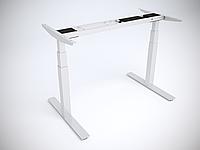 Рама стола Ultra регулируемая по высоте для работы сидя-стоя с двумя моторами, 5 год (Extra), Вверх/вниз (Standart), Белый