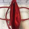 """Сумка женская """"Бона"""" натуральная кожа,красный лак с рептилией, фото 2"""