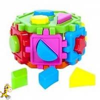 Логический шестигранник-сортер с геометрическими фигурами