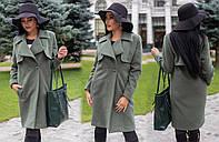 Пальто норма на 2 пуговицы кашемир  Мод 321 (AMBR)