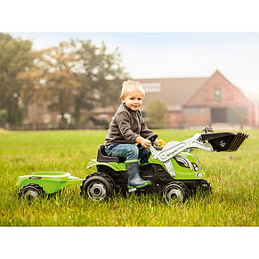 Трактор педальный c прицепом и ковшом Farmer XL Smoby 710109, фото 3